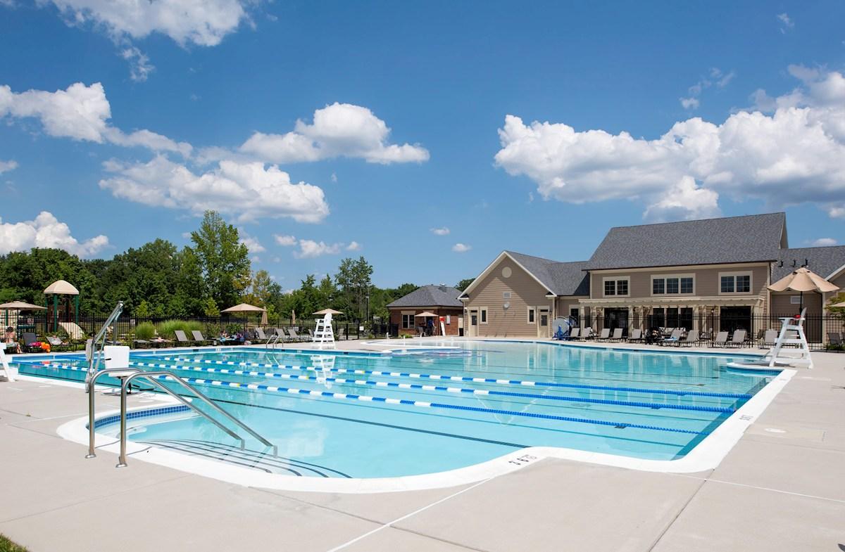 Community pool and kiddie pool