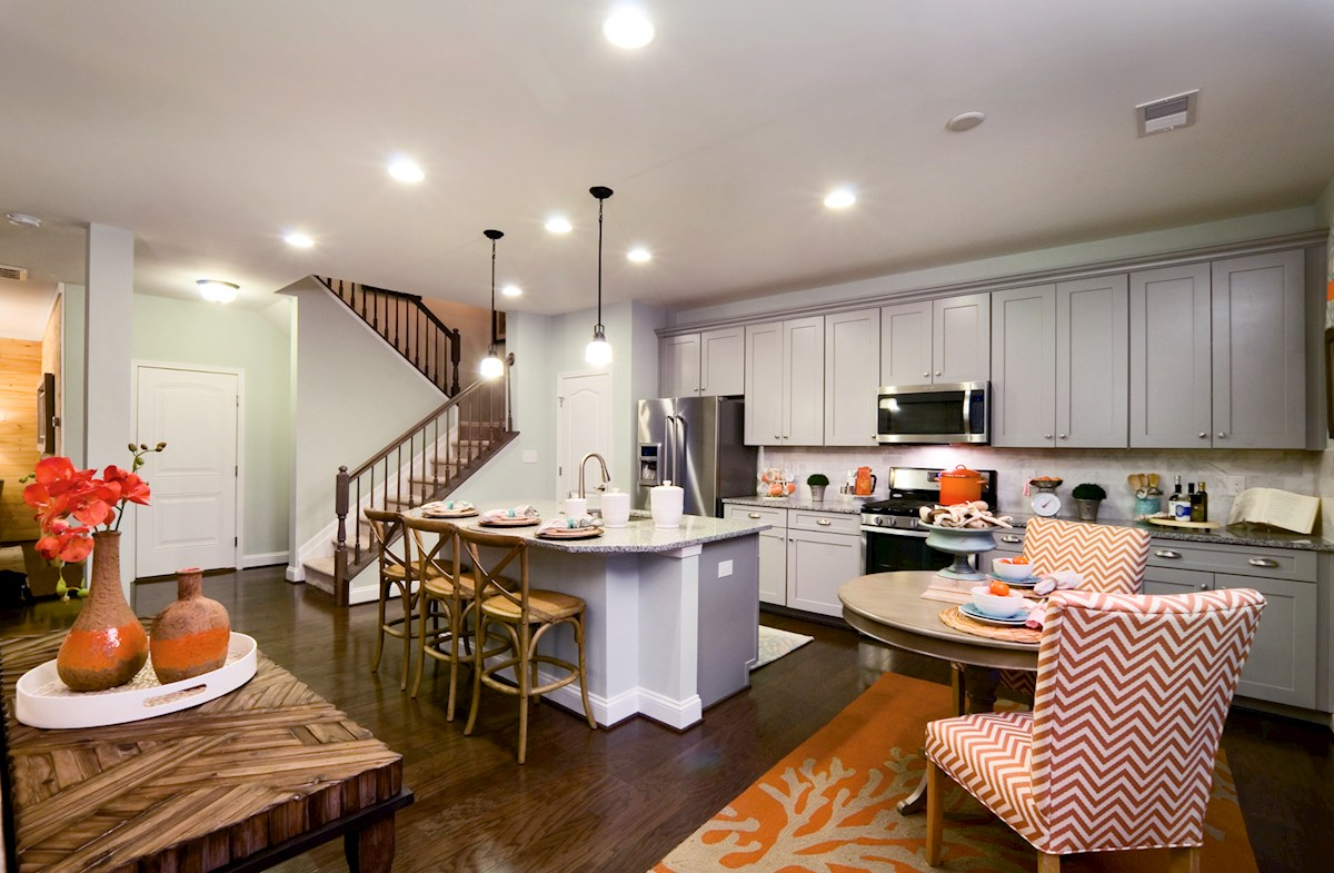 Bishop's Landing Spencer II Breakfast area and kitchen featuring stainless steel appliances