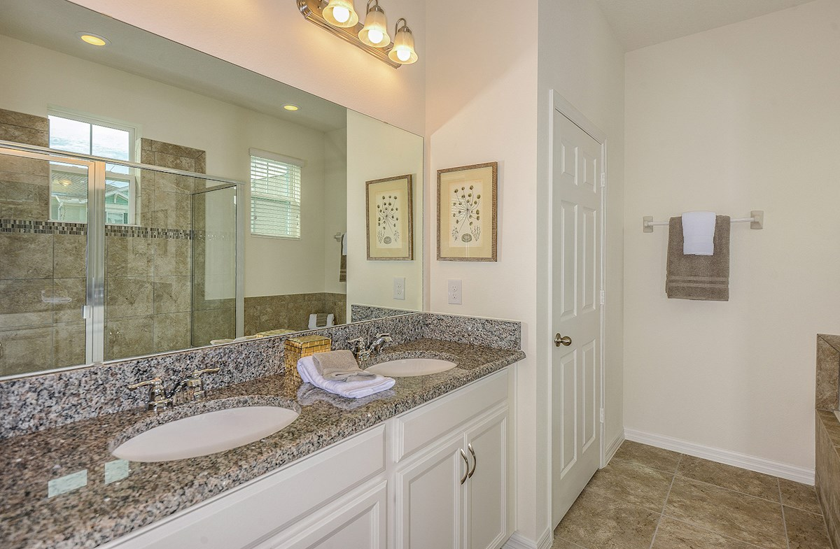 Summerlake Townhomes Concord spa-inspired master bath