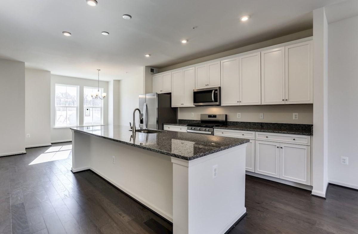 Potomac quick move-in Potomac kitchen with granite countertops