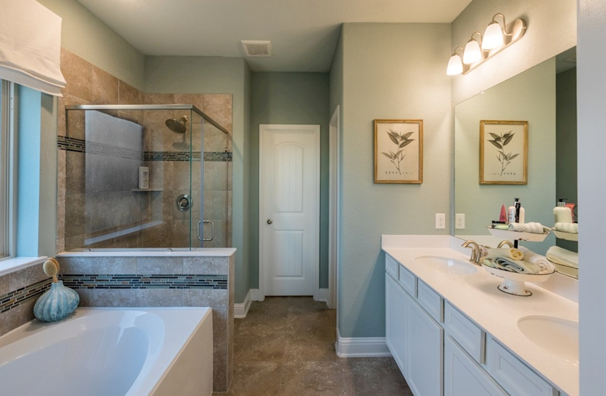 Villages at Harmony Franklin Franklin master bath with tile flooring