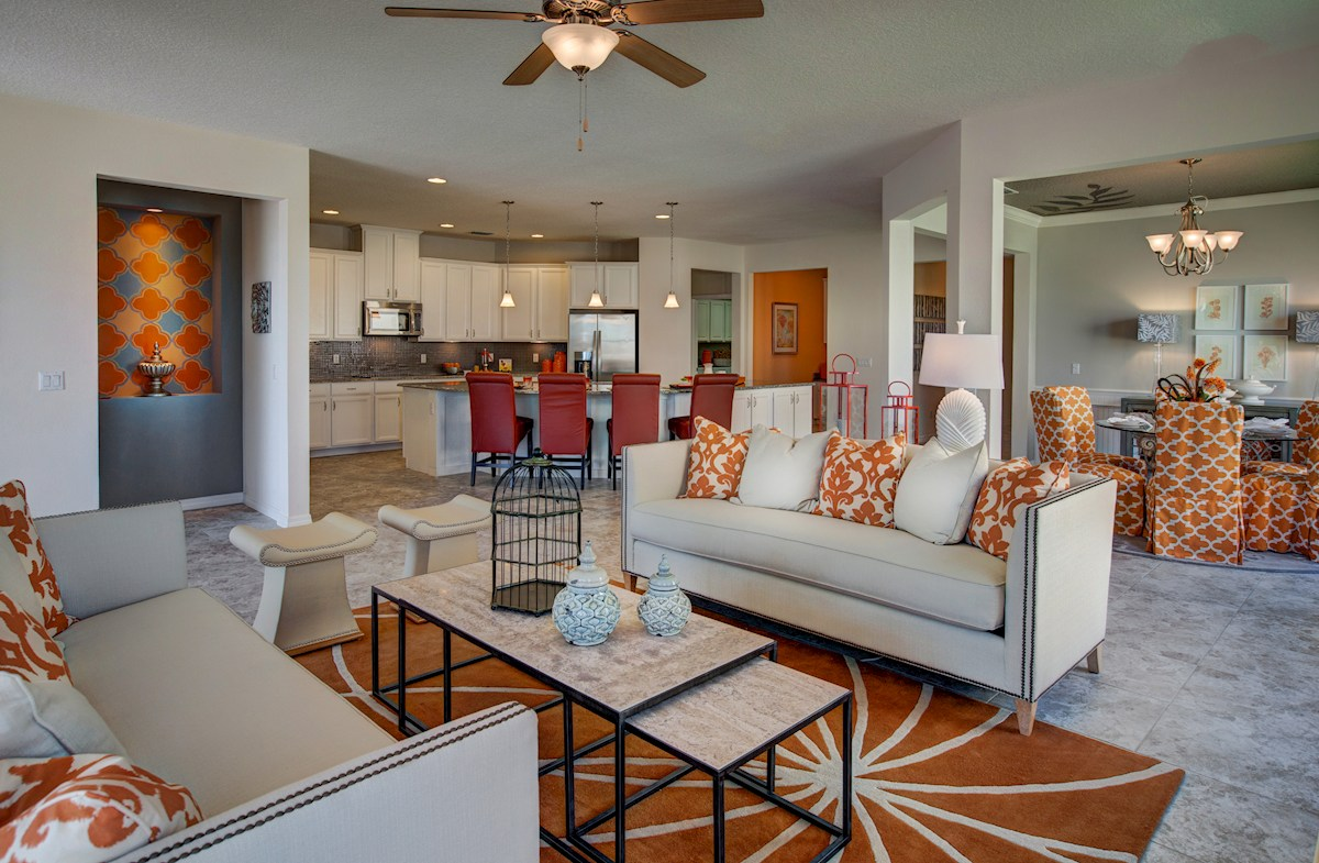 Reserve at Sawgrass Redwood open great room