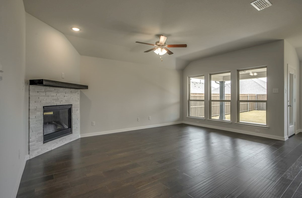 Baxter quick move-in great room with wood flooring