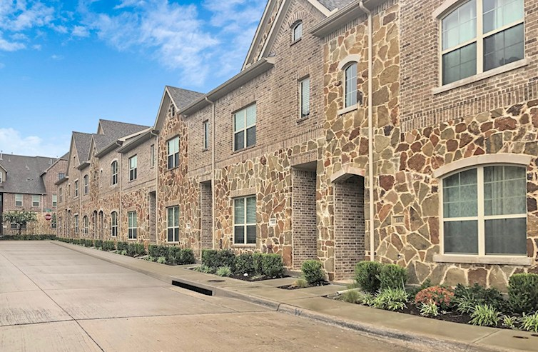 Villas of Prestonwood brick and stone exterior