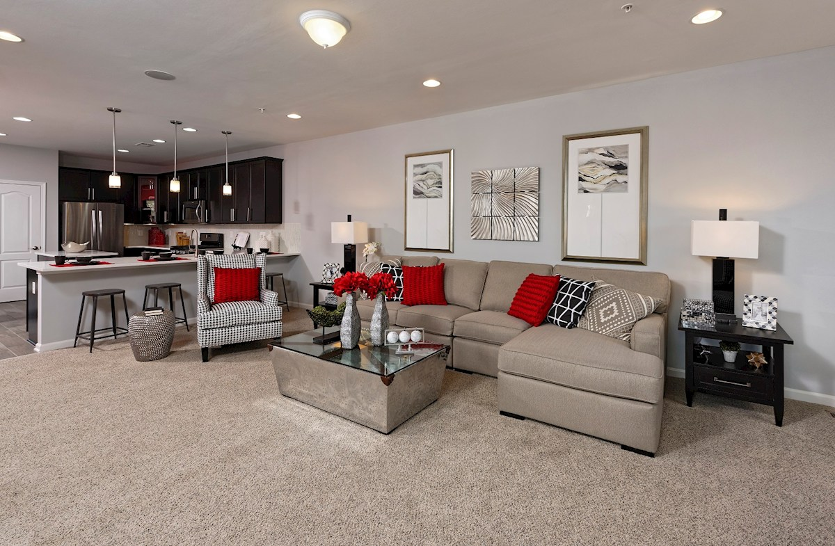 The Preserve at Windlass Run Townhomes  Oakland II  welcoming great room