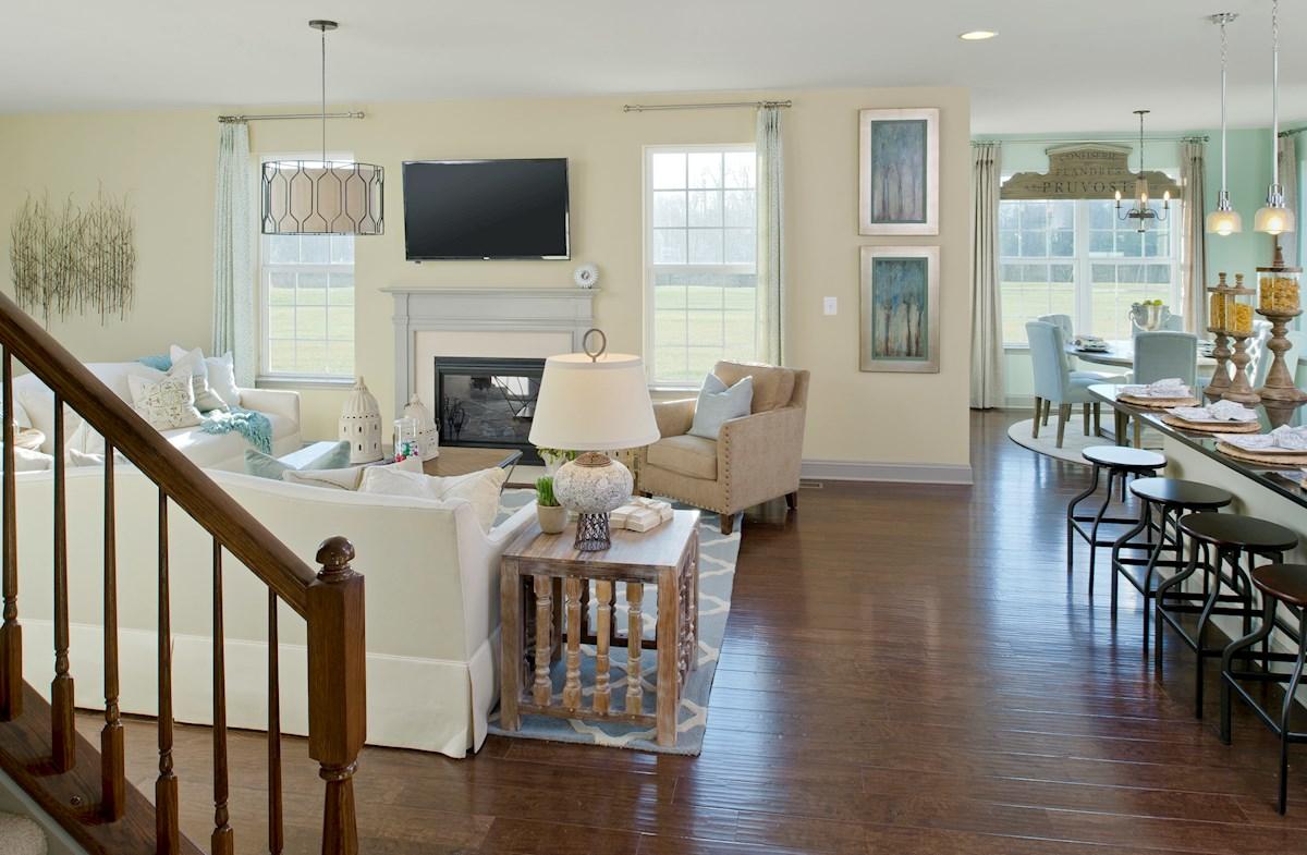 The Preserve at Windlass Run - Single Family Homes Pembrooke inviting great room