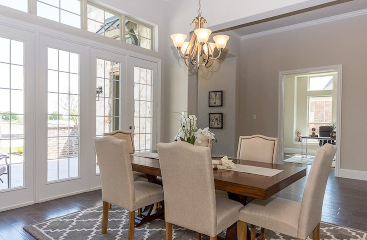 Miramonte Calais Formal dining room with natural lighting
