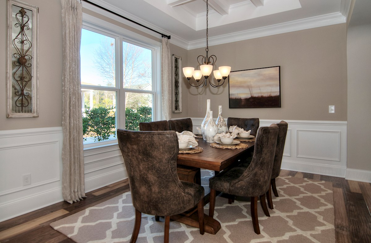 Balmoral at Market Common District Sinclair Dining Room with Picture Frame Molding