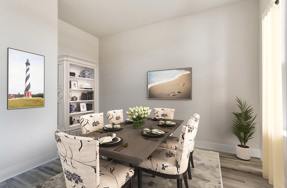 Reserve at Citrus Park Estero Formal dining room with large windows