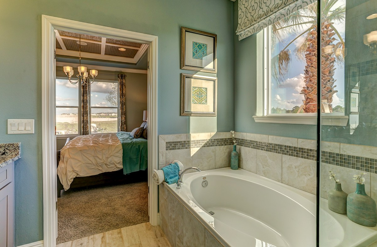The Reserve at Pradera Madison tub with mosaic tile