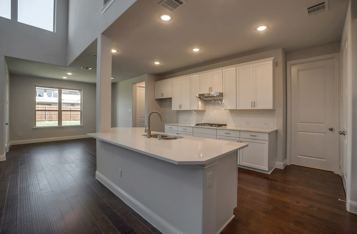 Brookhaven quick move-in Brookhaven kitchen with white cabinets