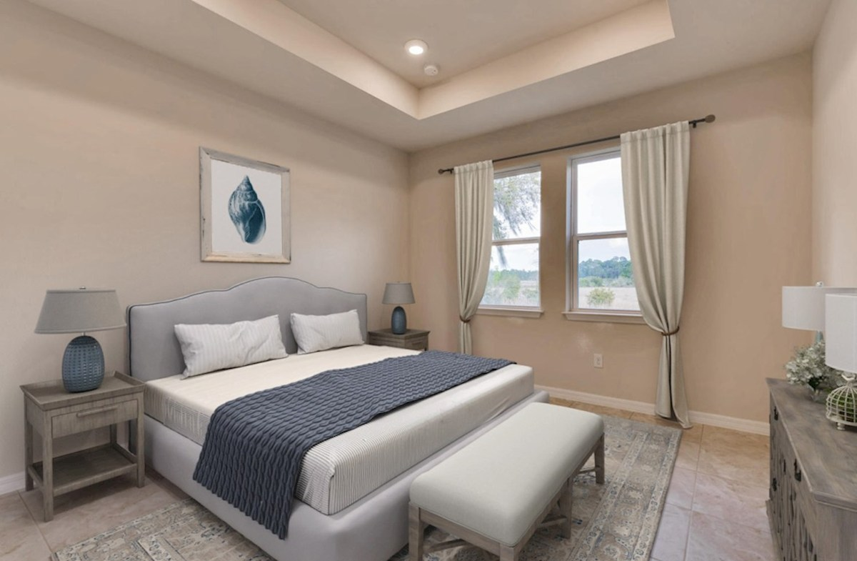 Sea Breeze quick move-in Master Bedroom virtually staged