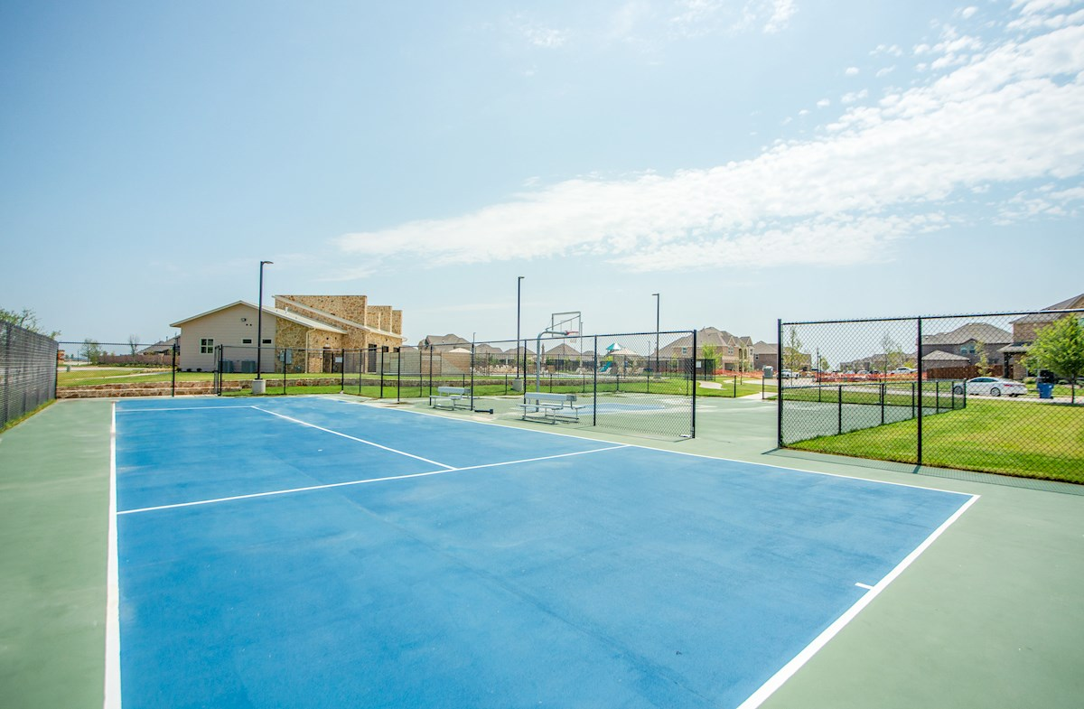 tennis court at amenity center
