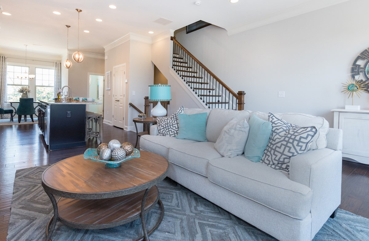 Peachtree Creek Township Ashland Cozy yet open living spaces