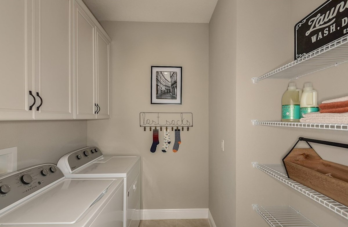 Avalon Park West Sea Breeze Laundry room with cabinets