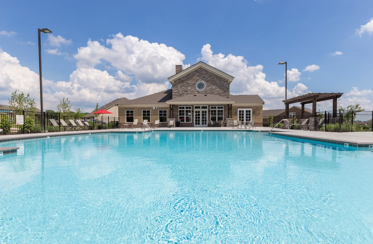 pool and clubhouse with fitness center