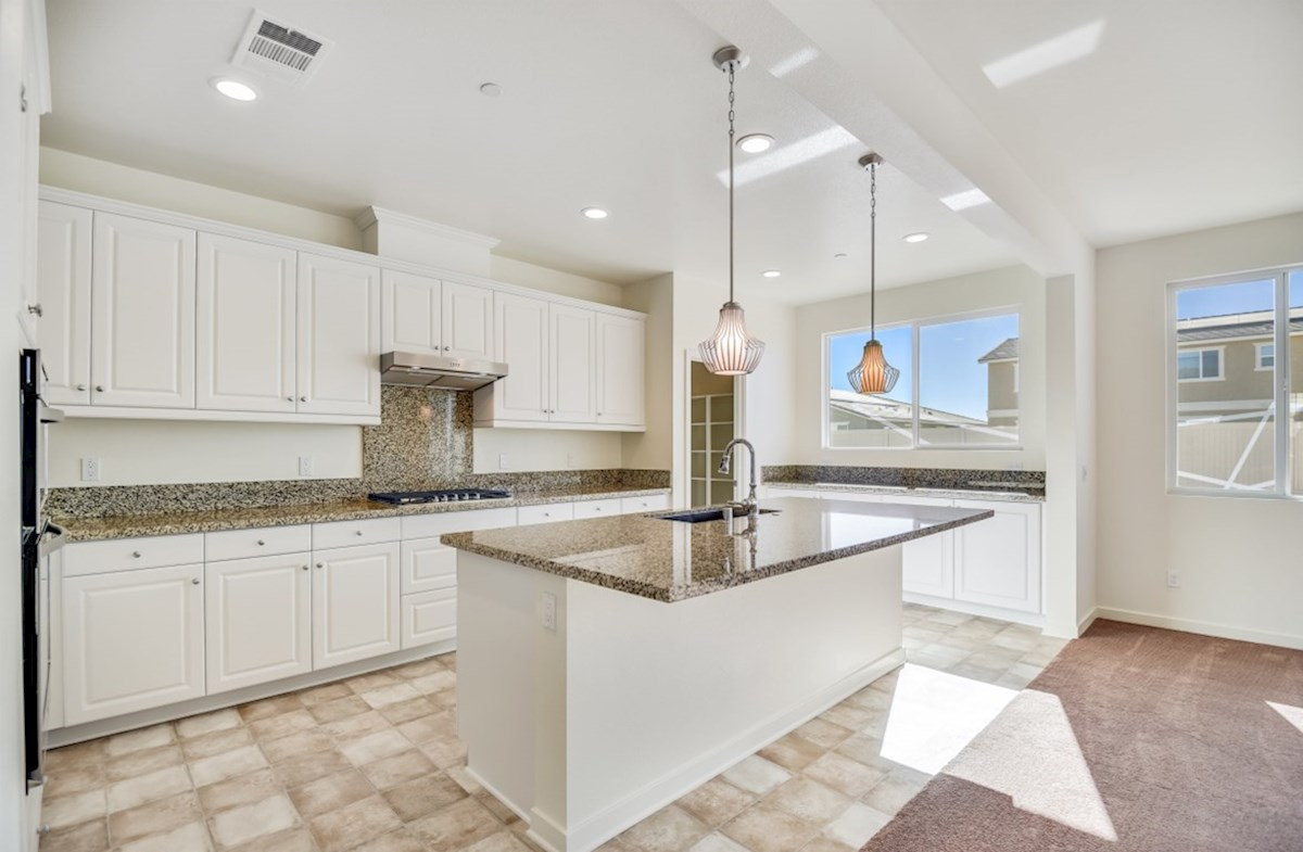 Starflower quick move-in Gourmet kitchen boasts an oversized island, stainless steel appliances, and stunning granite countertops