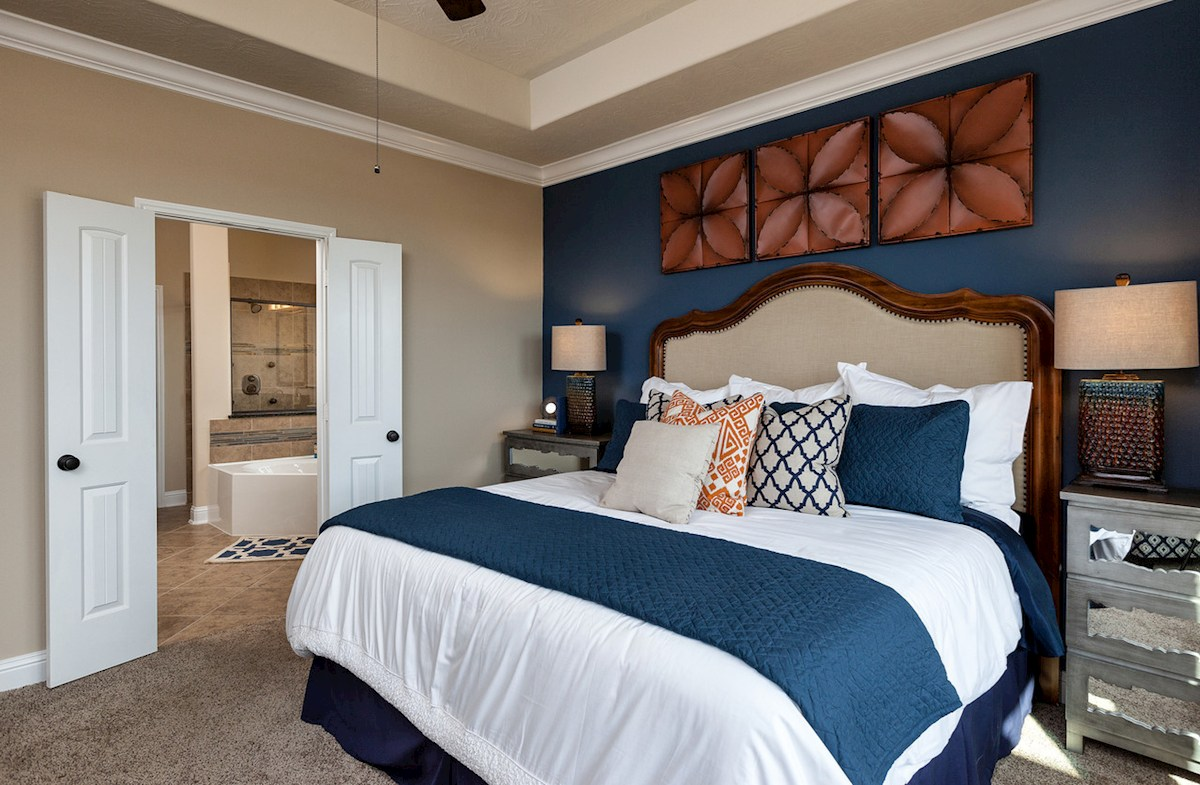 Cameron master bedroom with tray ceiling