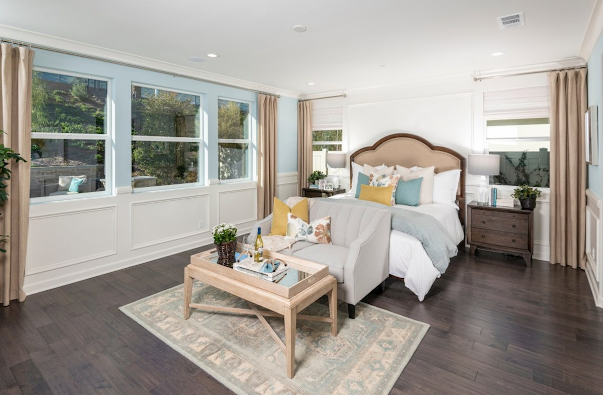 Aurora Heights Honeysuckle Master bedroom located in the back of home for best exterior views and natural light