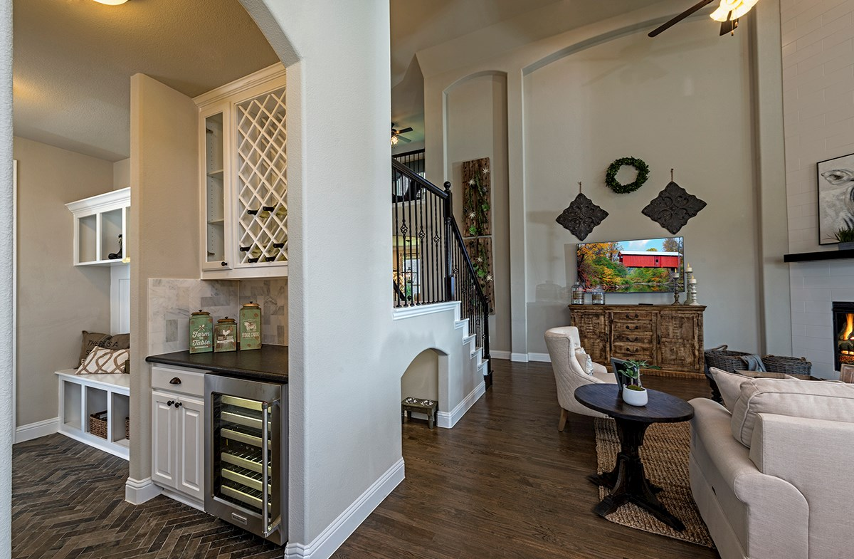 mud bench and butlers pantry