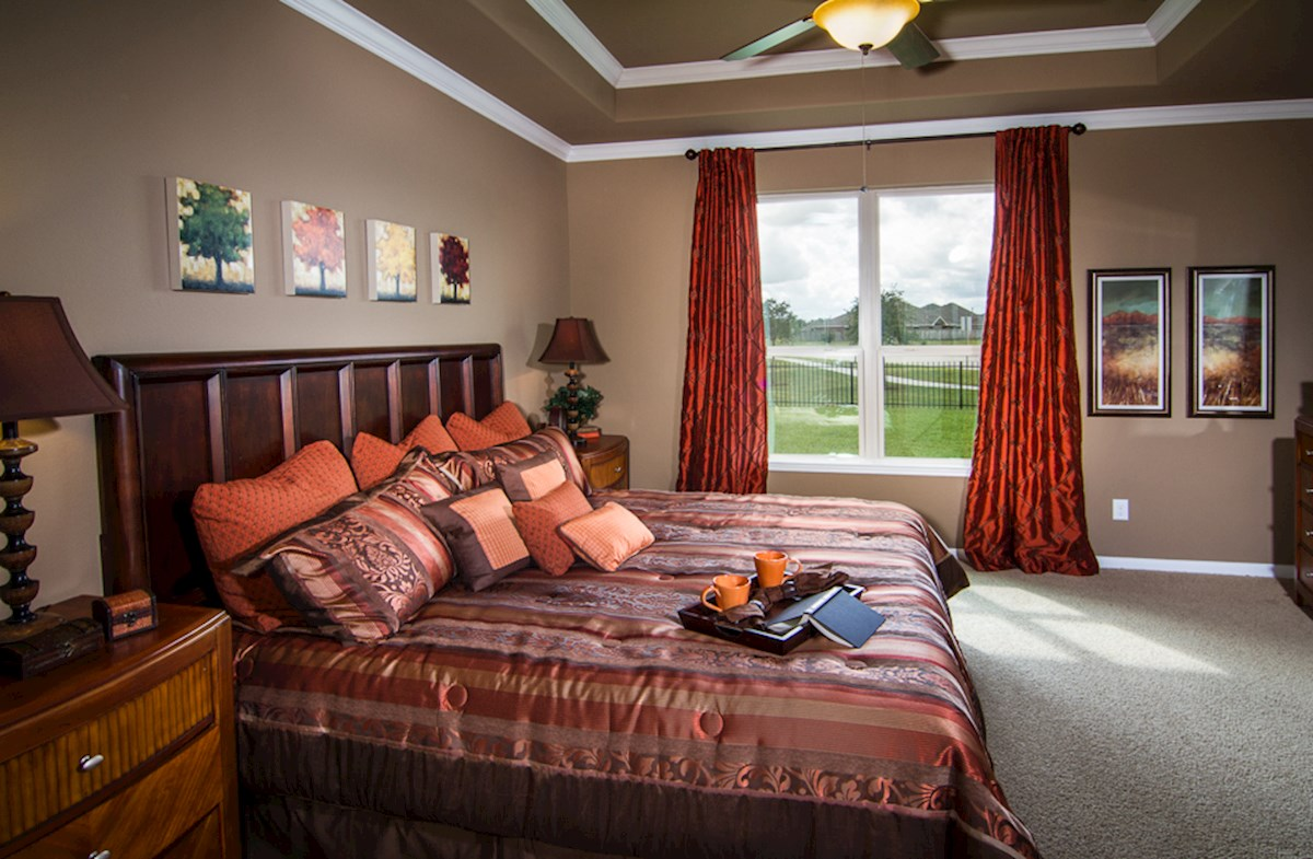 Bridgeland: Parkland Village Armstrong master bedroom with tray ceiling