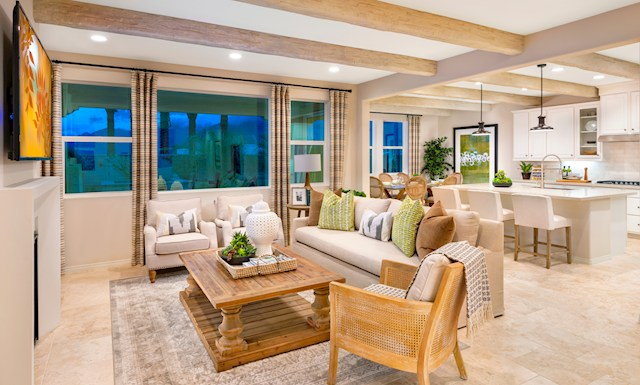 virtual tour of single-story home in La Quinta, CA