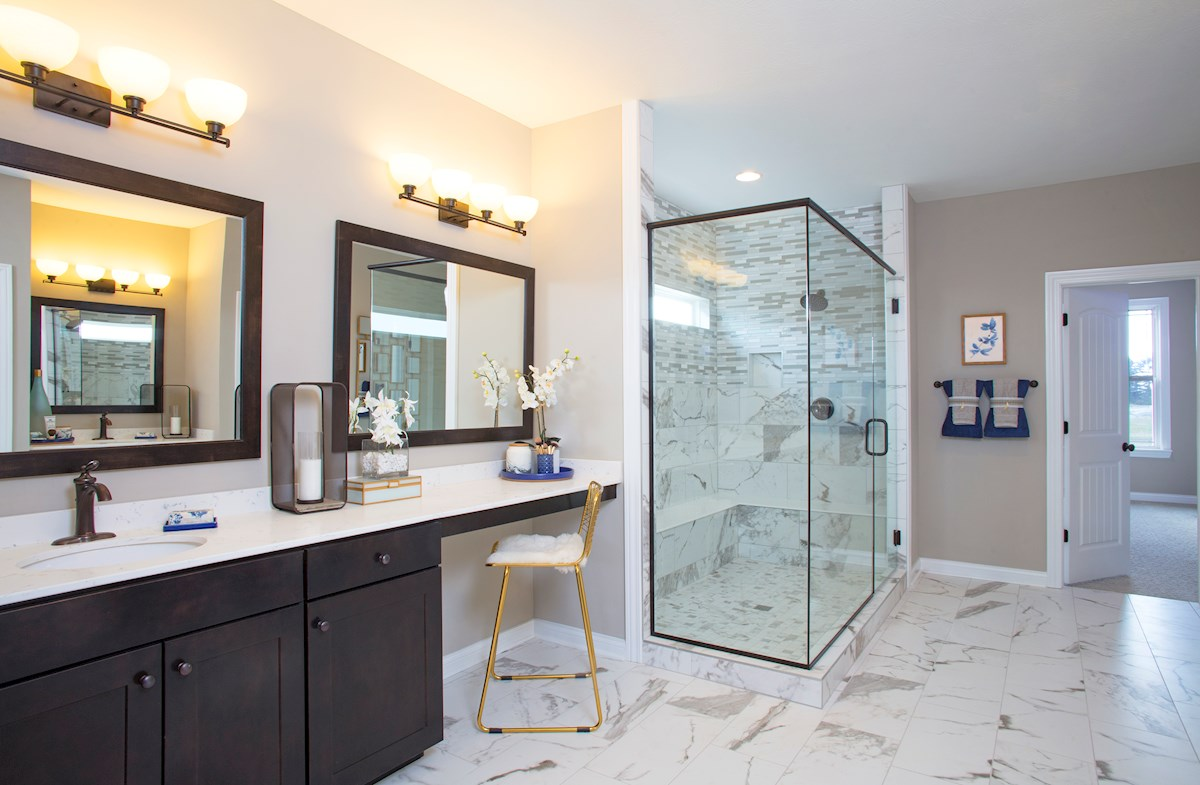 Luxurious master bath in the Tarkington