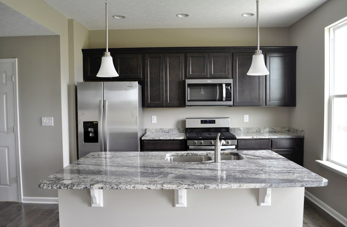 Juniper quick move-in Breakfast bar for casual dining