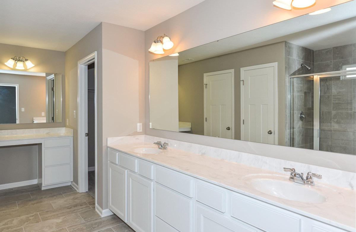 Porter quick move-in Master bath with dual vanities