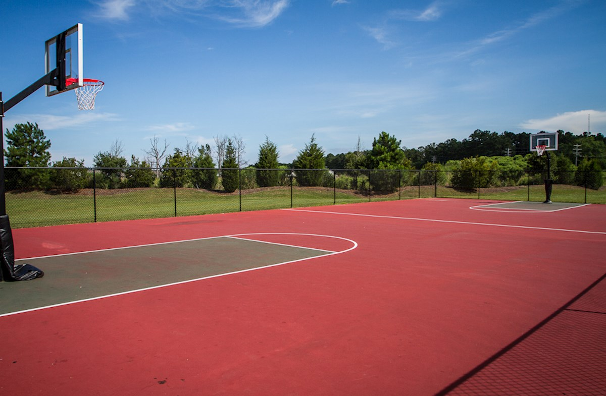 Cameron Village large basketball court
