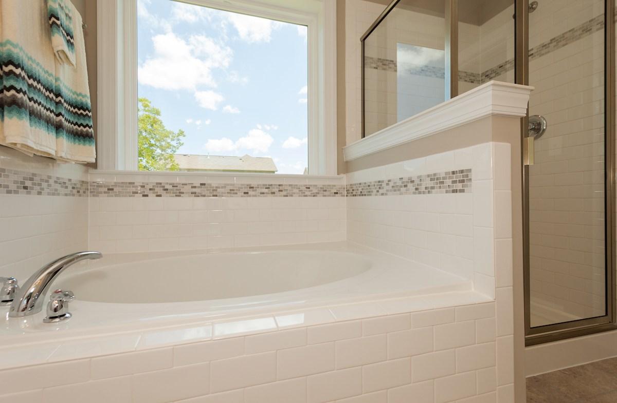 Cypress Meadow Concord master bathroom soaking tub