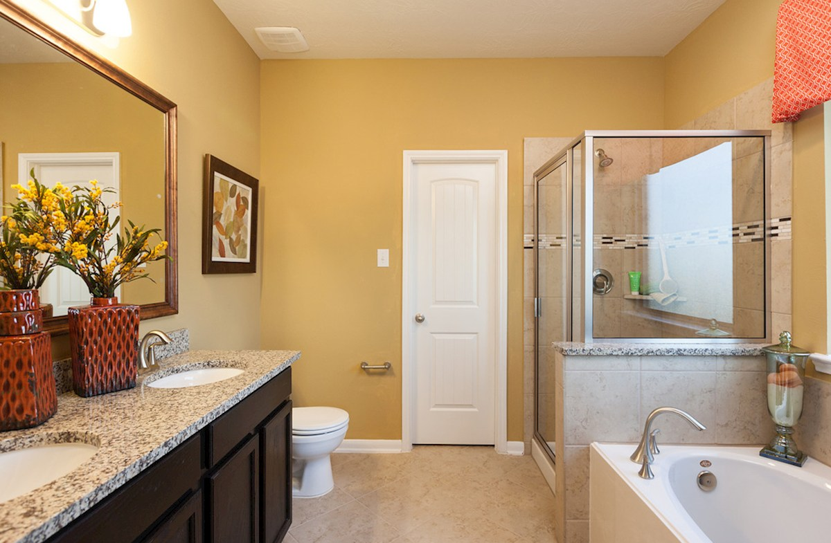 King Crossing Matagorda II spa-inspired master bathroom