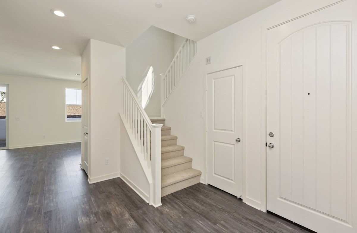 Suncup quick move-in The foyer welcomes and invites guests into your home.