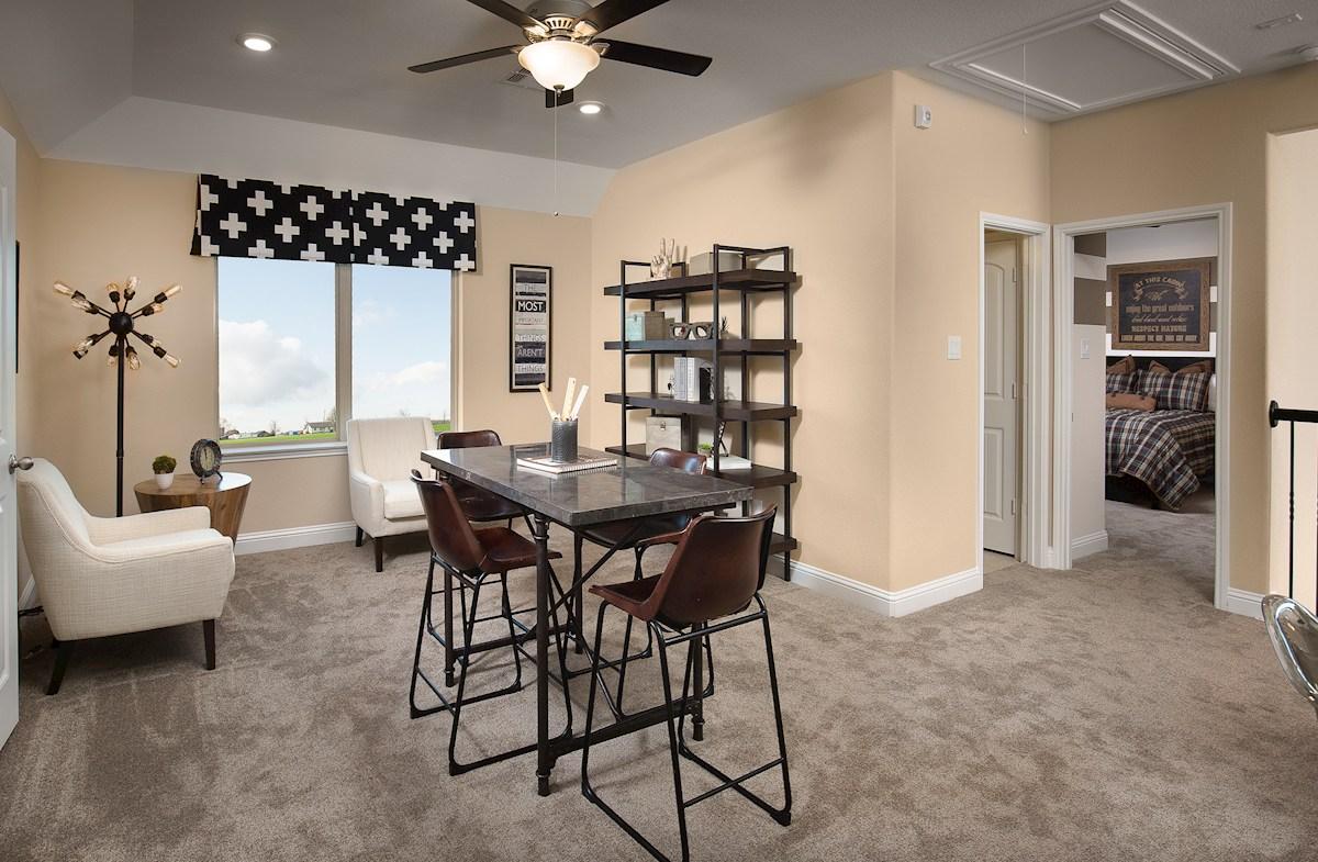 loft with carpet flooring