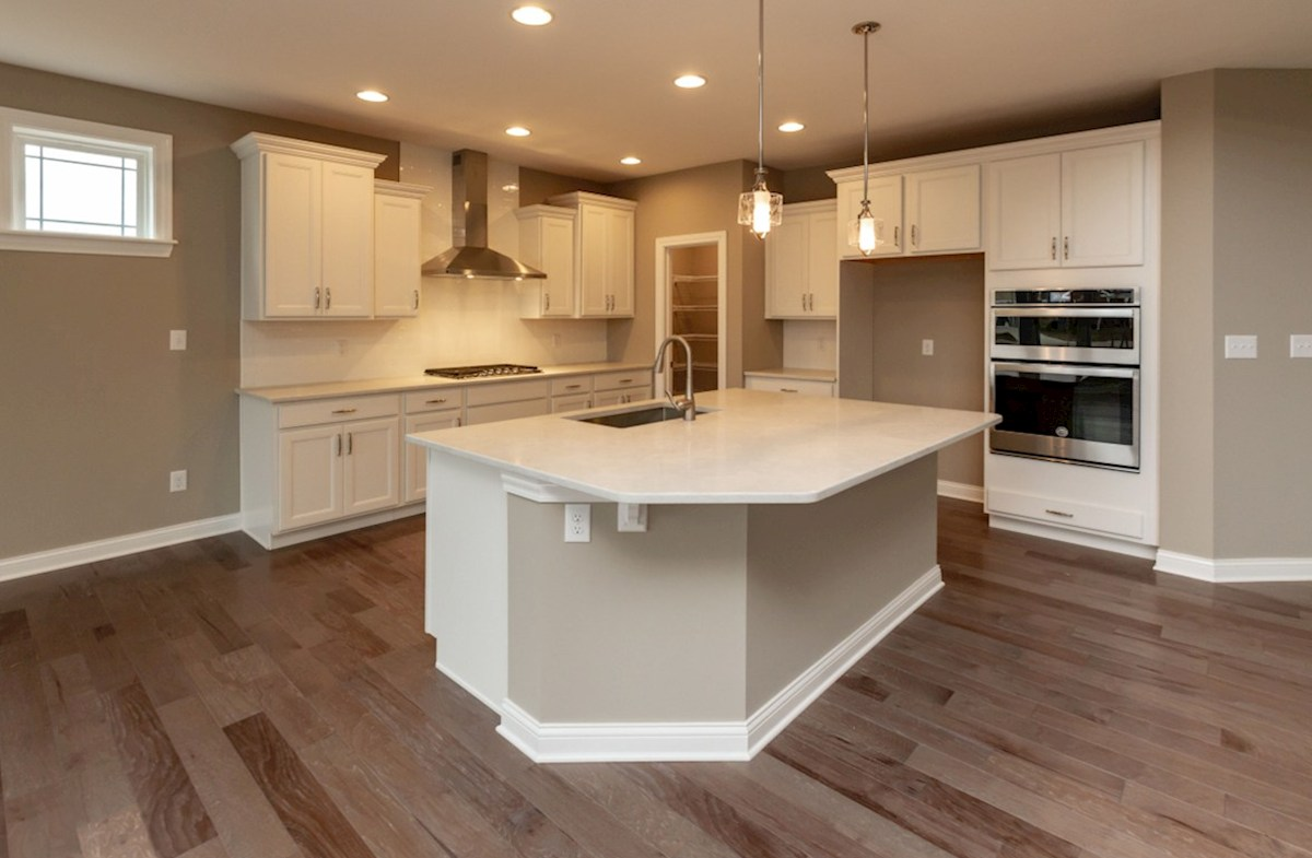 Bradbury quick move-in kitchen with large island and gas cook top