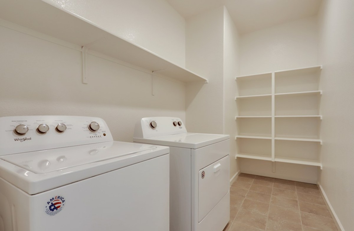 Residence 2 quick move-in laundry room