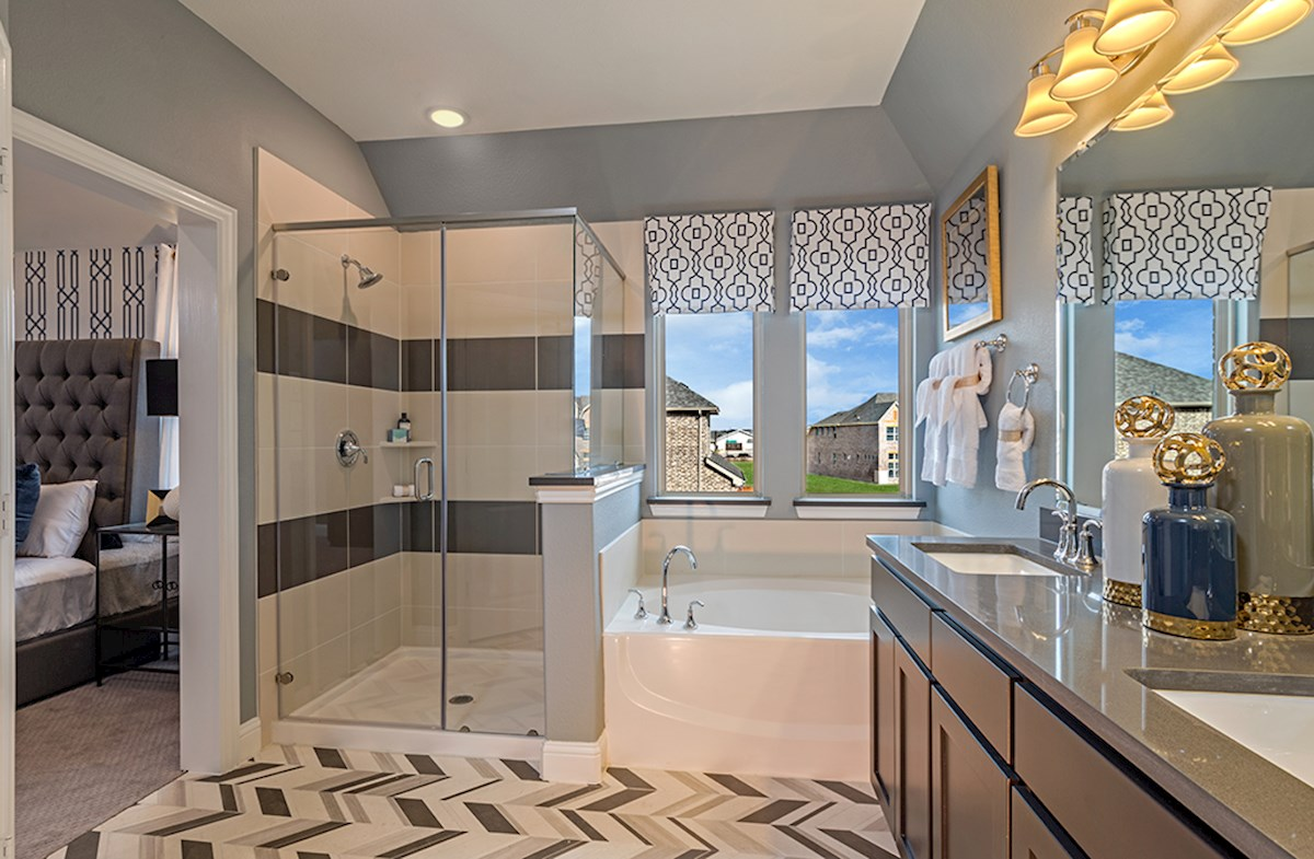 Whitney master bathroom with oversized shower