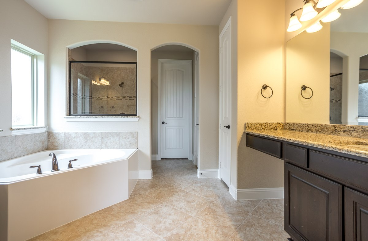 Gruene quick move-in master bath with large walk-in shower