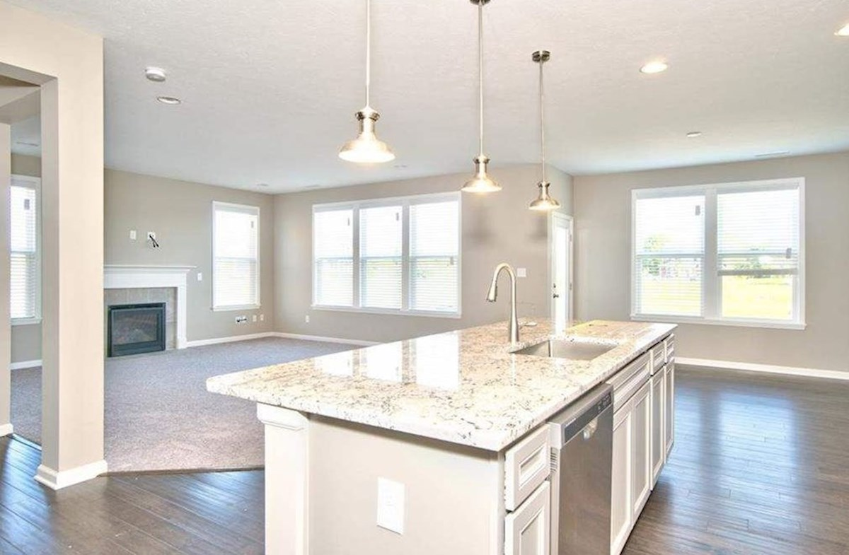 Whitley quick move-in Open concept kitchen for entertaining