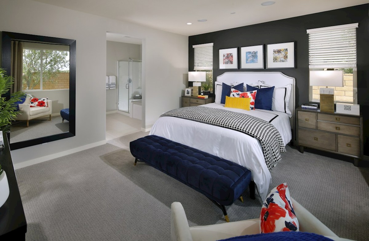 Barcelona Opal Master bedroom located in the back of home for best exterior views and natural light