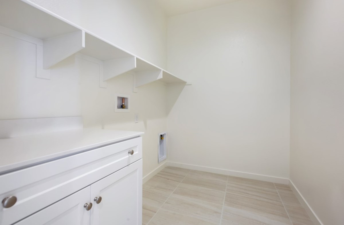 Napa quick move-in Abundant storage in the laundry room
