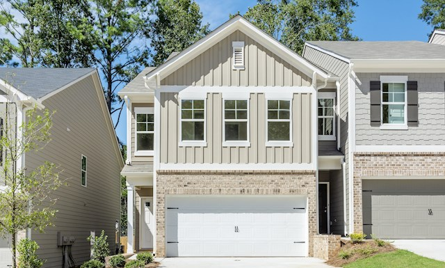 Two-story townhome with 2-car garage