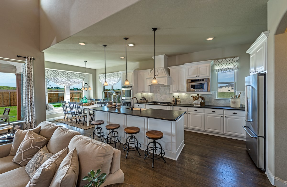 Summerfield kitchen with a large island