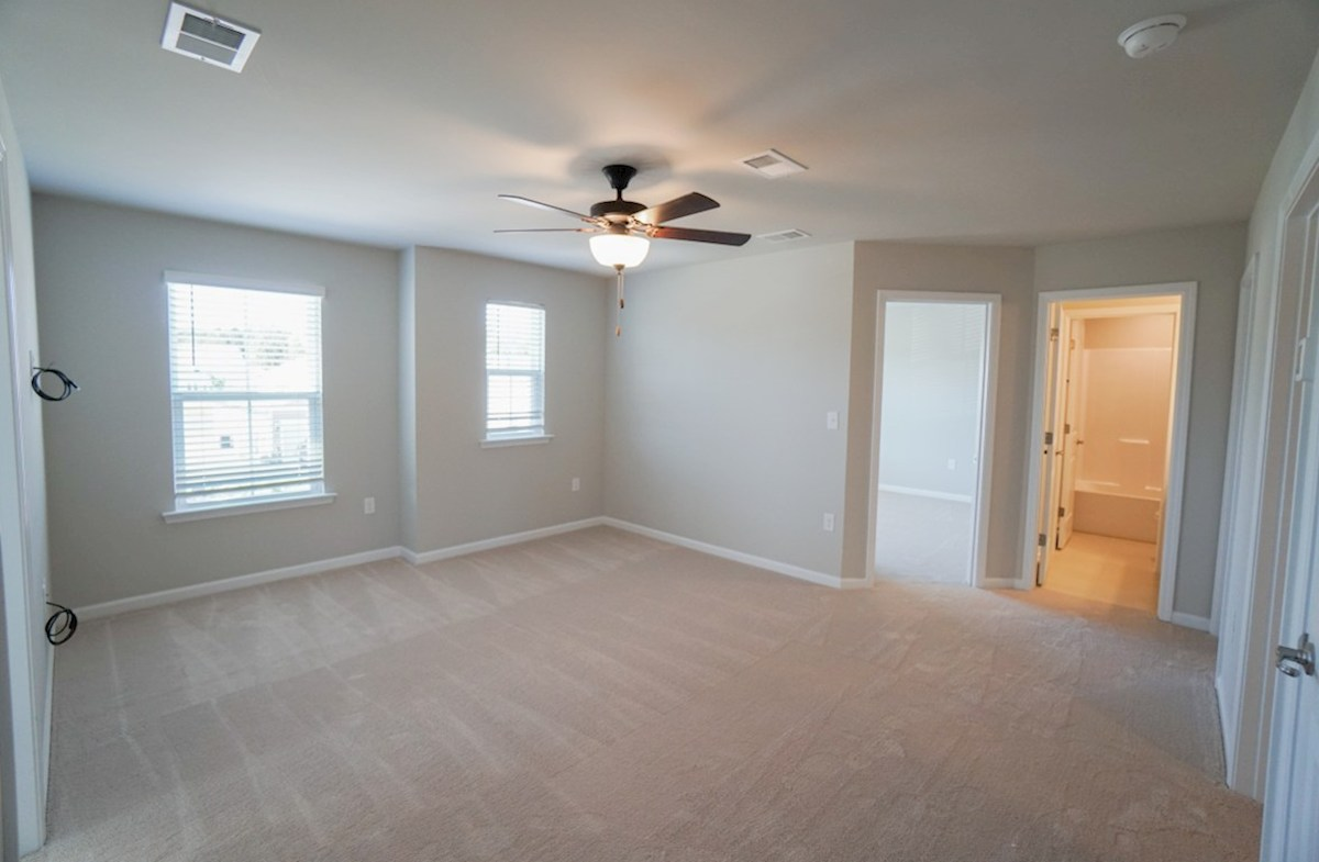 Edisto quick move-in loft is spacious with carpet and multiple windows