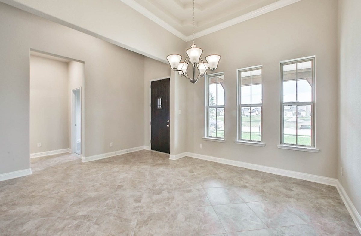 Fredericksburg quick move-in open dining room with tile floor