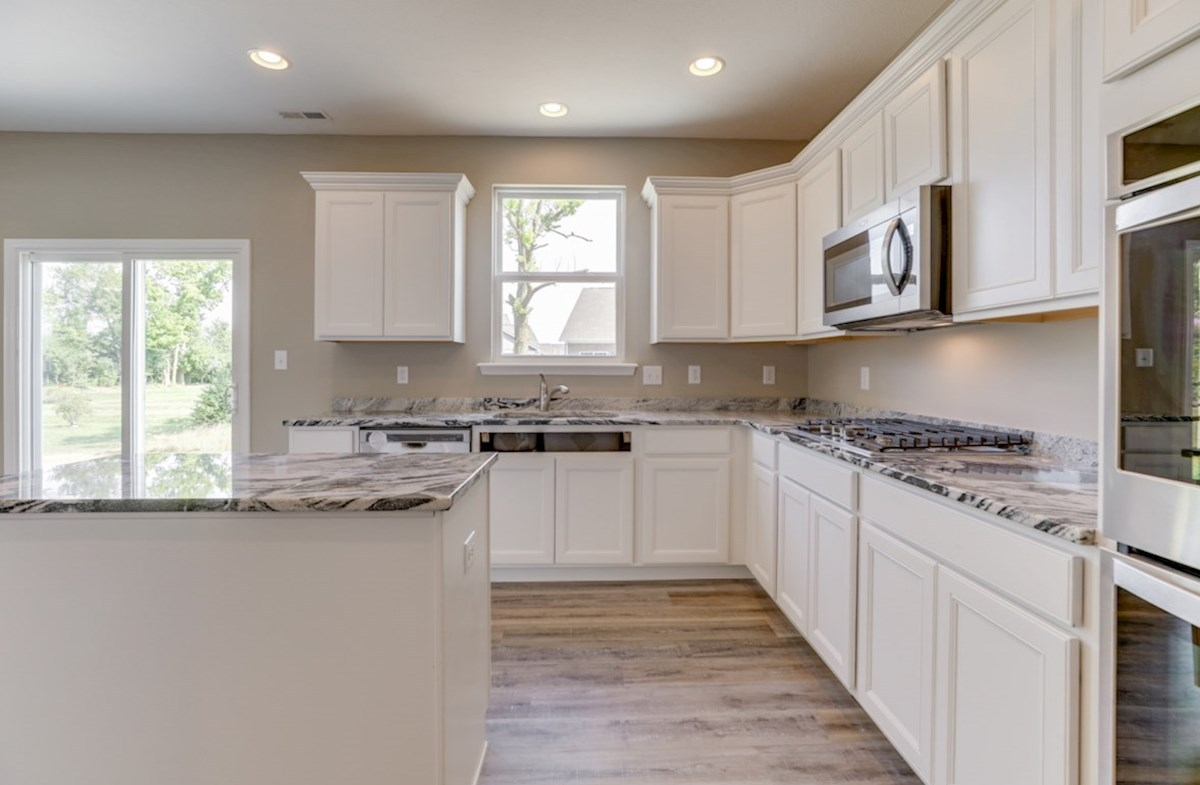 Juniper quick move-in kitchen with white cabinets