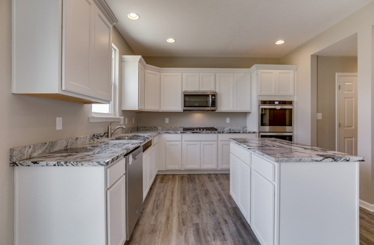 Juniper quick move-in open kitchen with spacious island