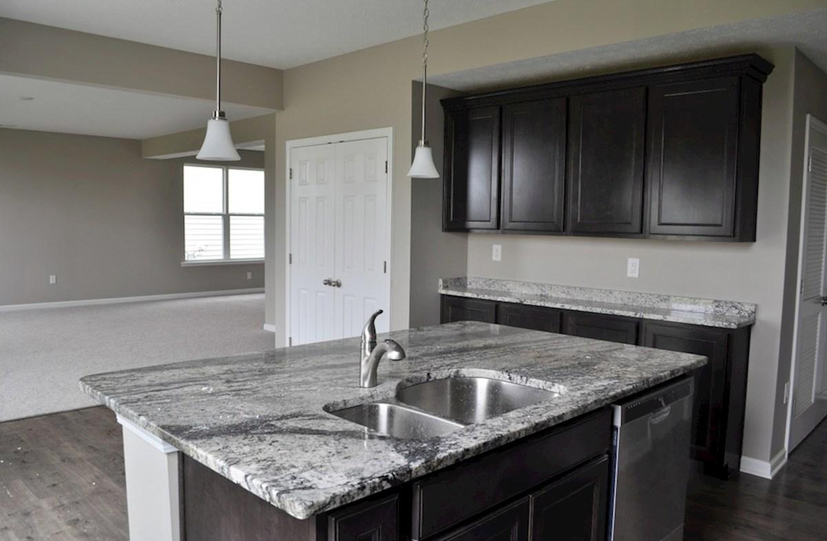 Juniper quick move-in Large kitchen island with granite countertops