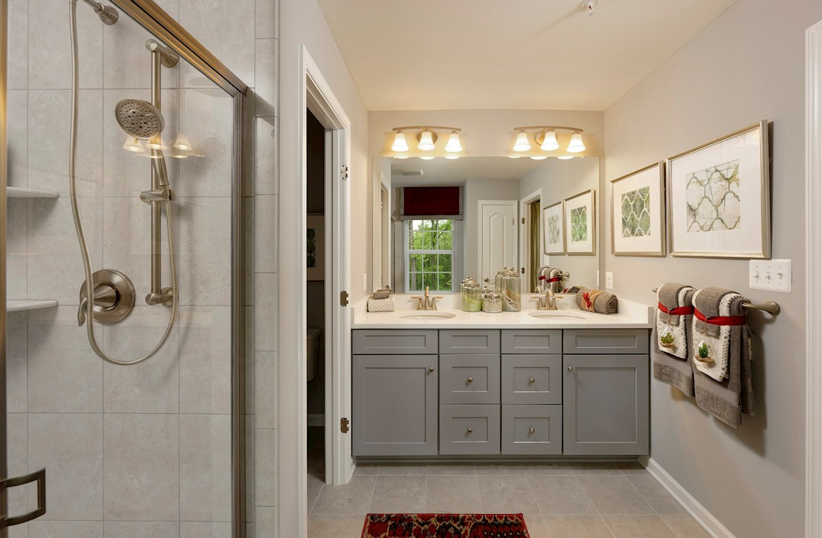 The Preserve at Windlass Run Townhomes  Vienna luxurious master bathroom