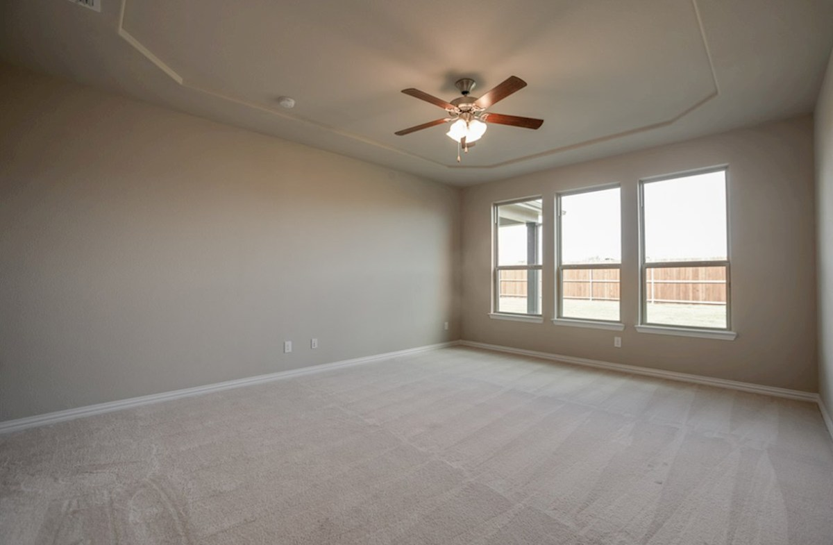 Madison quick move-in master bedroom with decorative ceiling